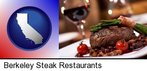 Berkeley, California - a steak dinner