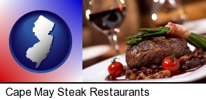 Cape May, New Jersey - a steak dinner