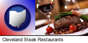 Cleveland, Ohio - a steak dinner