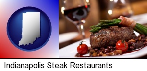 Indianapolis, Indiana - a steak dinner
